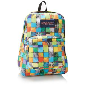 Jansport superbreak backpack blue multi pop block