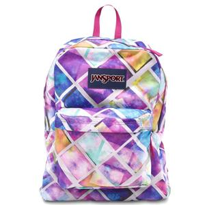Jansport superbreak backpack multi glow box