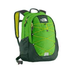 North face Well-loved Jester II backpack flashlight green