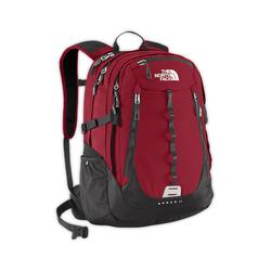 North face Popular Surge II backpack biking red