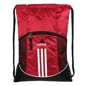 Red and white gym bag from Adidas