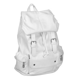 Stylish white leather-like bag for girls