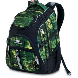 high sierra access backpack in black and covert