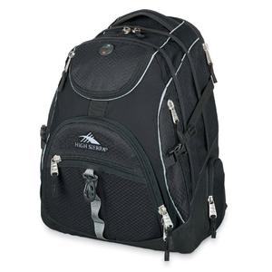 high sierra access backpack in black