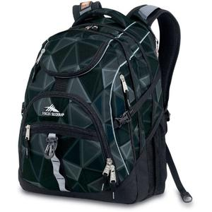 high sierra access backpack in grey pattern and black