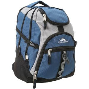 high sierra access backpack in navy ash gray