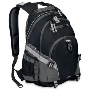 high sierra loop backpack in black charcoal