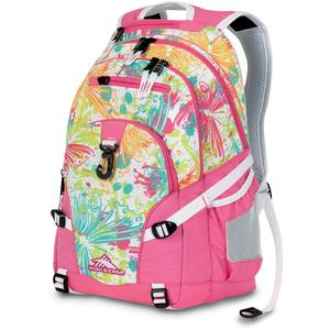 high sierra loop backpack in bright flight pink lemon