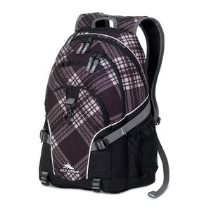 high sierra loop backpack in mad diagonal pattern