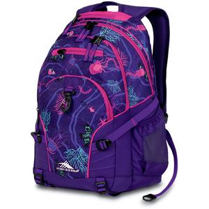 high sierra loop backpack in ocean party and deep purple