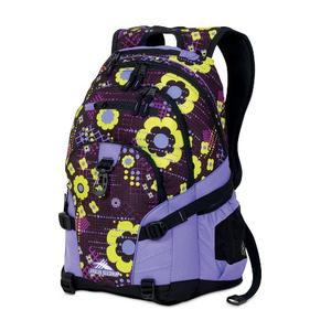 high sierra loop backpack in purple flowers pattern