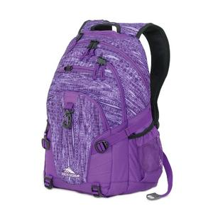 high sierra loop backpack in purple pattern