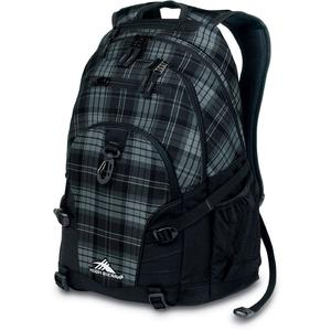 high sierra loop backpack in shaded grey and black