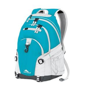 high sierra loop backpack in teal white
