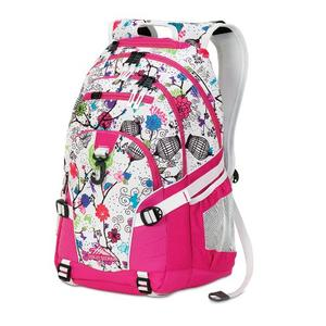 High Sierra Loop backpack in white cerise pattern