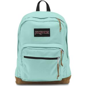 Aqua dash color of Jansport right pack