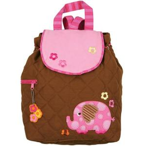 Cute backpack with elephant decoration