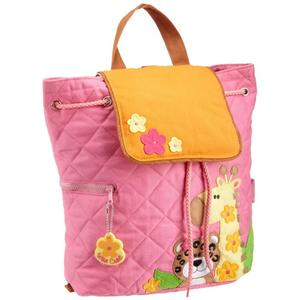 Cute pink backpack with animal patterns