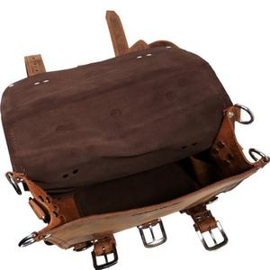 Inner compartment view of Vagabond traveler leather backpack
