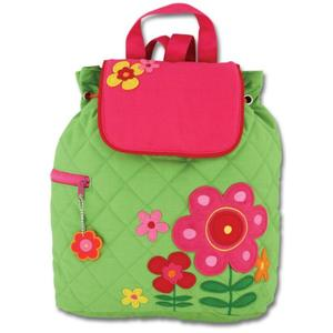 Lovely backpack for girls with flower decoration