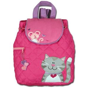 Lovely girl backpack with cat ornaments