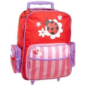 Rolling backpack with lovely design for girls