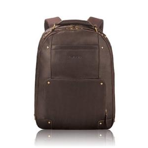 Top-quality leather 15-inch laptop backpack from Solo