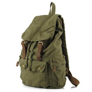 Vintage-style hiking cum student backpack