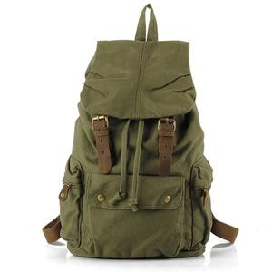 Zoom in view of retro-style rucksack