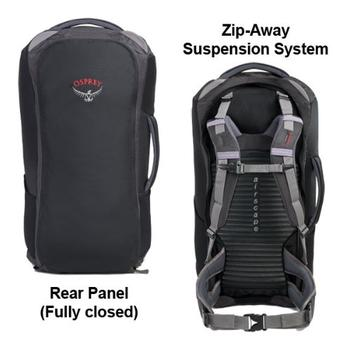 back panel design of best backpack for travelling
