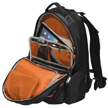 Inner compartment view of Everki TSA Checkpoint Friendly Travel laptop Backpack