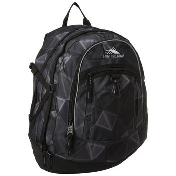 High Sierra Fat Boy Backpack in black charcoal pattern