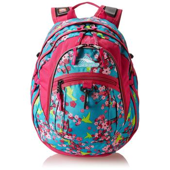 High Sierra Fat Boy Backpack with floral pattern