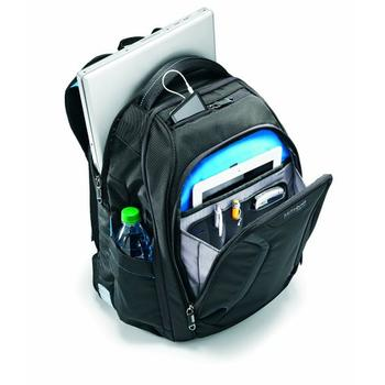 Detailed view of inner compartment of Samsonite Luggage Vizair Laptop Backpack