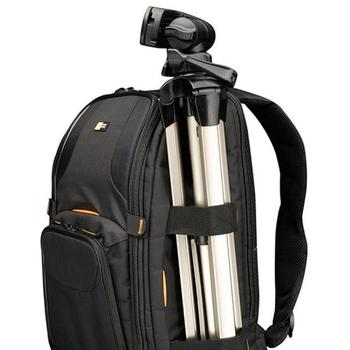 Holding of tripod with Case Logic SLRC-206 Camera backpack