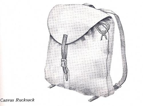 Great vintage-looking canvas backpack for style-conscious students